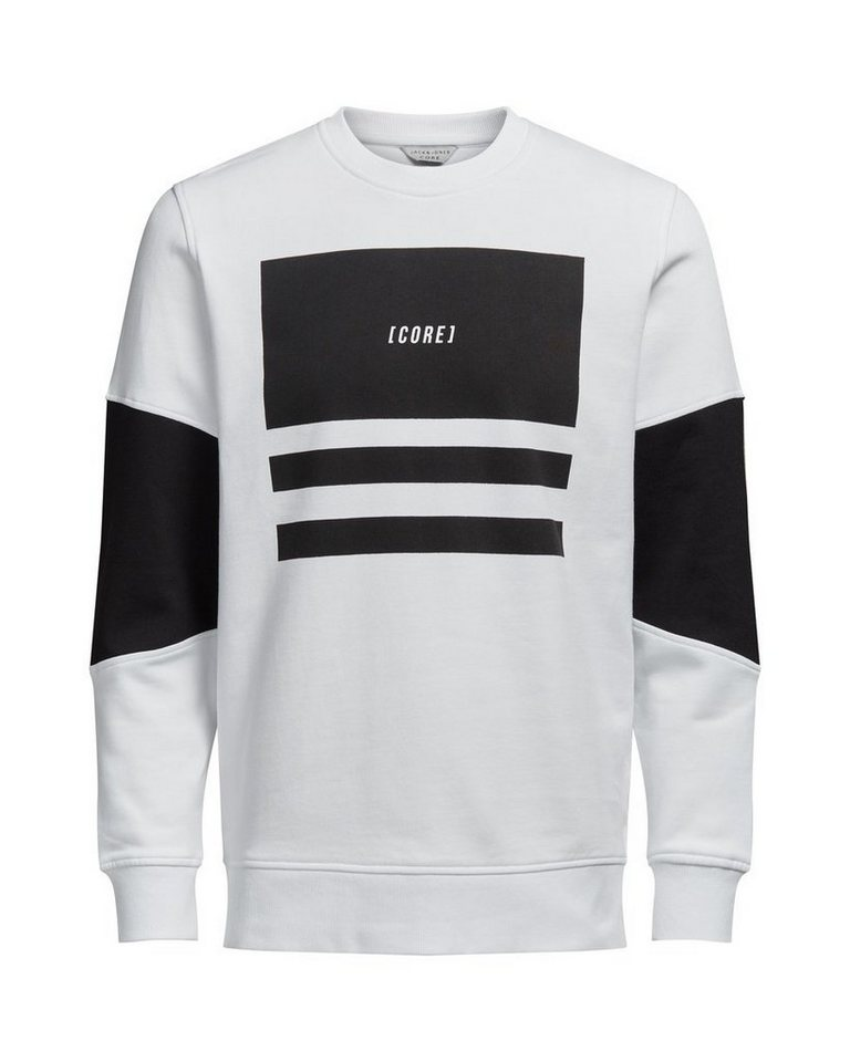 Jack & Jones Grafik- Sweatshirt in White