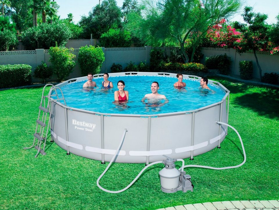Bestway rundpool frame pool power steel xh he for Pool innenfolie