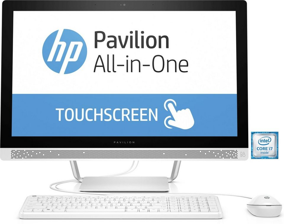 "HP Pavilion 24-b151ng All-in-One PC »Intel Corei7, 60,4cm (23,8""), 2TB + 128GB, 16GB« in weiß"