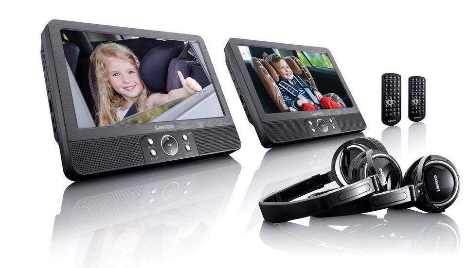 lenco tragbarer dvd player im set mit halterung per gurt. Black Bedroom Furniture Sets. Home Design Ideas