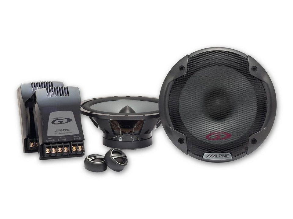 ALPINE 2 Wege Lautsprechersystem »SPG-17CS« in schwarz
