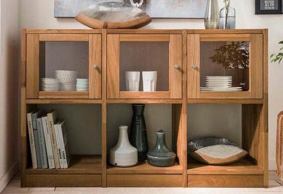 Premium collection by Home affaire Sideboard »Ecko«, aus massiver Wildeiche, Breite 136 cm
