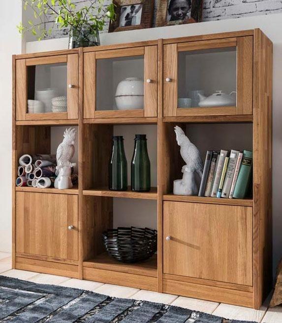 Premium collection by Home affaire Regalwand »Ecko«, Breite 136 cm in wildeiche