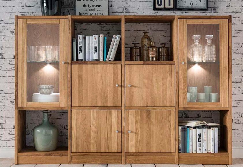Premium collection by Home affaire Regalwand »Ecko«, Breite 92 cm in wildeiche