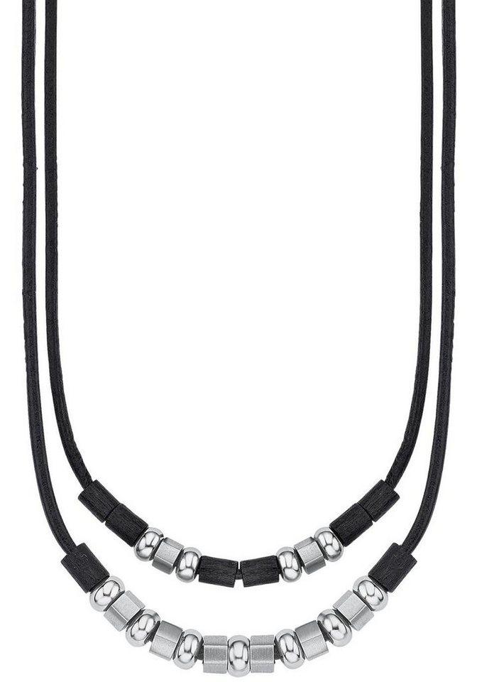 s.Oliver RED LABEL Junior Kette ohne Anhänger »2012511« in schwarz-silberfarben
