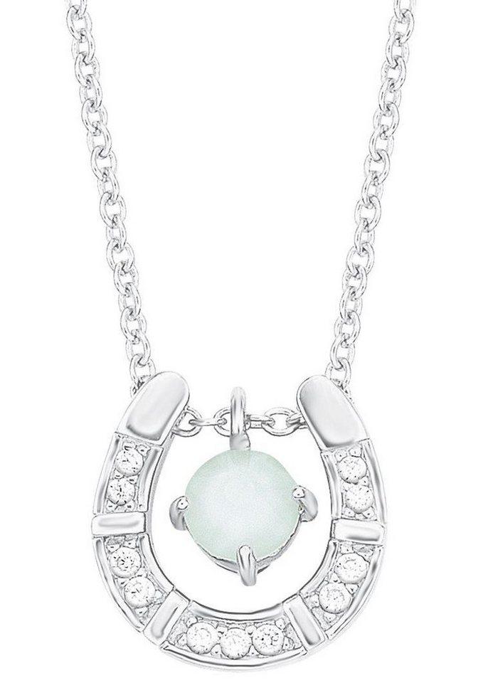 s.Oliver RED LABEL Junior Silberkette »Hufeisen, 2012519« mit Swarovski® Kristall und Zirkonia in Silber 925-grün