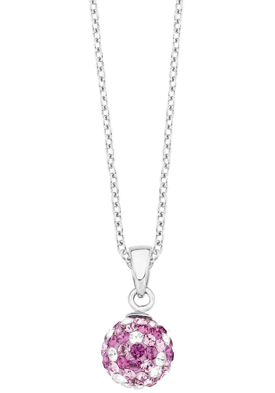 s.Oliver RED LABEL Junior Silberkette »2012624«, mit Swarovski® Kristallen