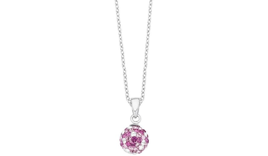 s.Oliver RED LABEL Junior Silberkette »2012624« mit Swarovski® Kristallen
