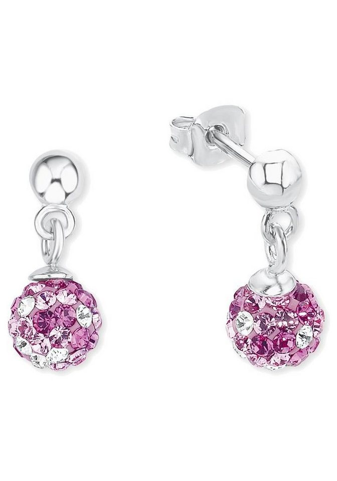 s.Oliver RED LABEL Junior Paar Ohrstecker »2012617« mit Swarovski® Kristallen in Silber 925-rosa-pink