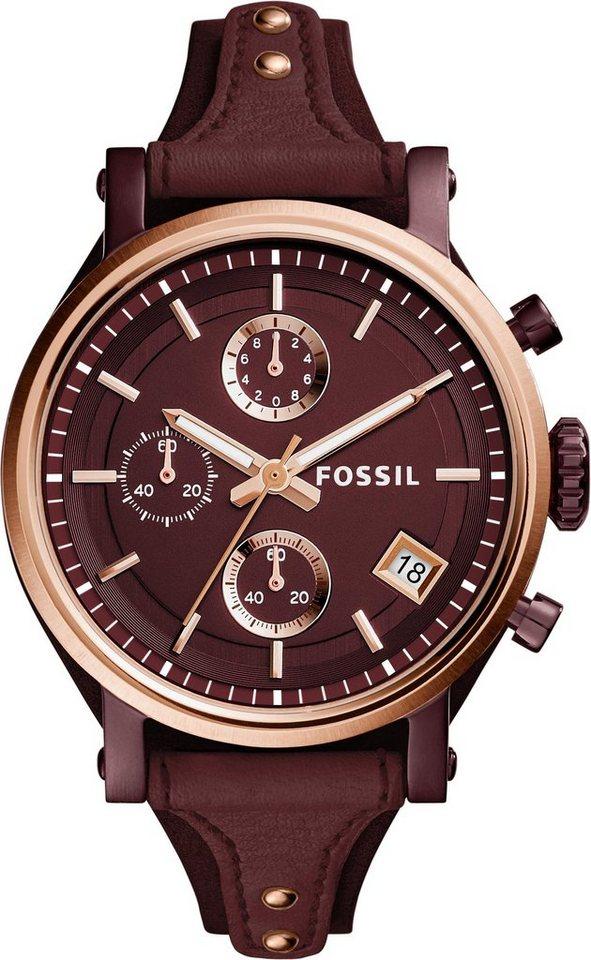 Fossil Chronograph »ORIGINAL BOYFRIEND, ES4114« in weinrot