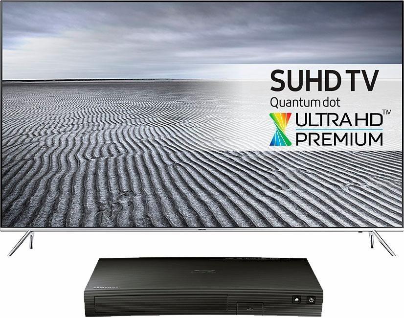 Samsung 49KS7090, LED Fernseher, 123 cm (49 Zoll), 2160p (SUHD), Smart-TV in silberfarben