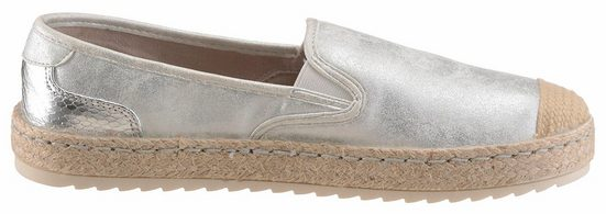 Mustang Shoes Slipper, In Modischem Metallic Look