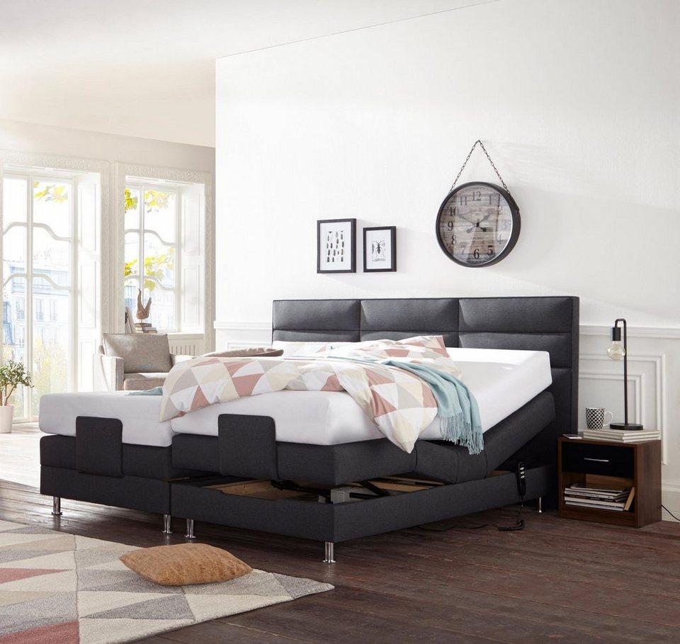 westfalia schlafkomfort motor boxspringbett in diversen ausf hrungen quadratische steppung im. Black Bedroom Furniture Sets. Home Design Ideas