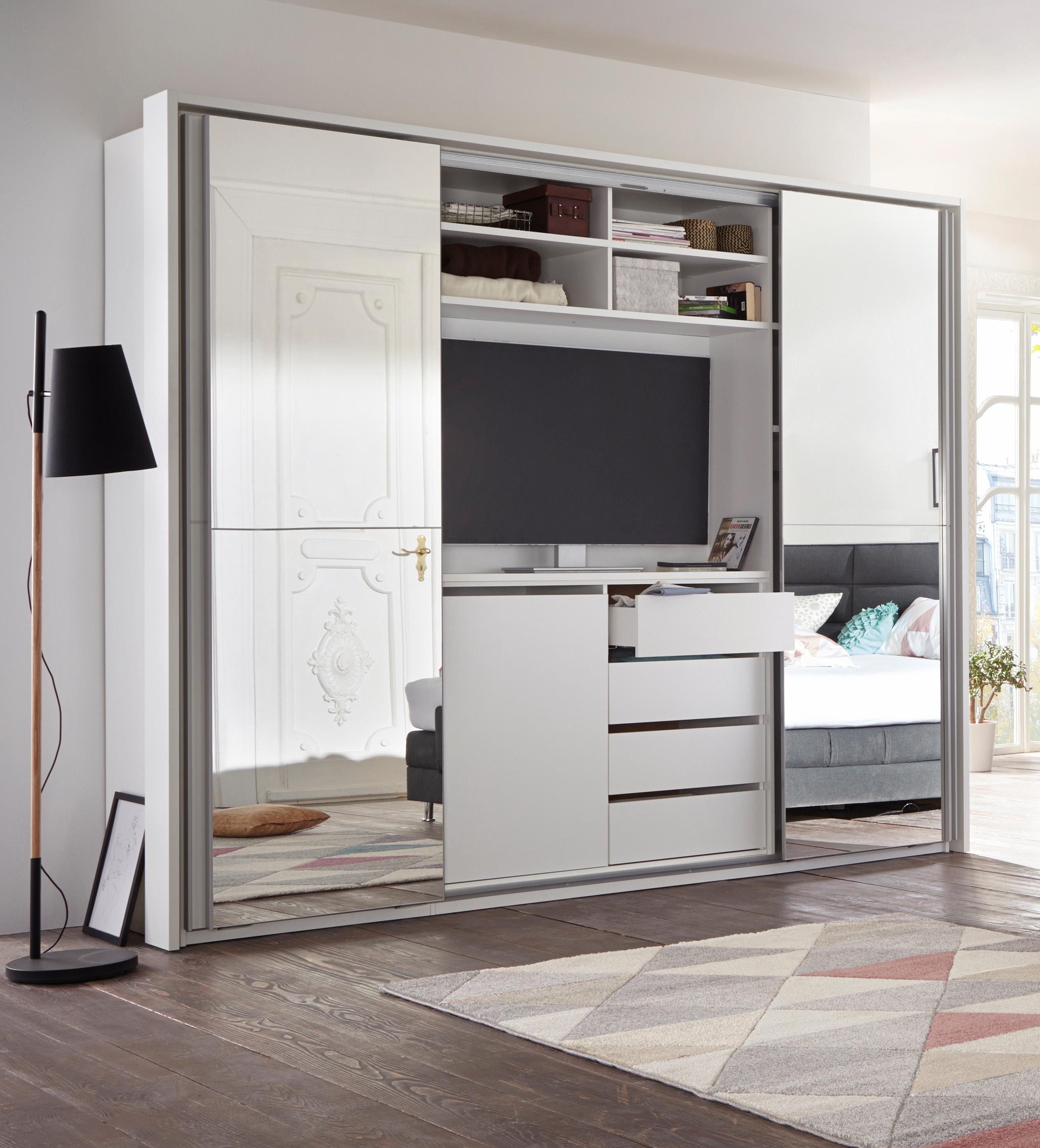 Ordentlich Schwebetürenschrank mit TV-Fach und Spiegel kaufen | OTTO KR72
