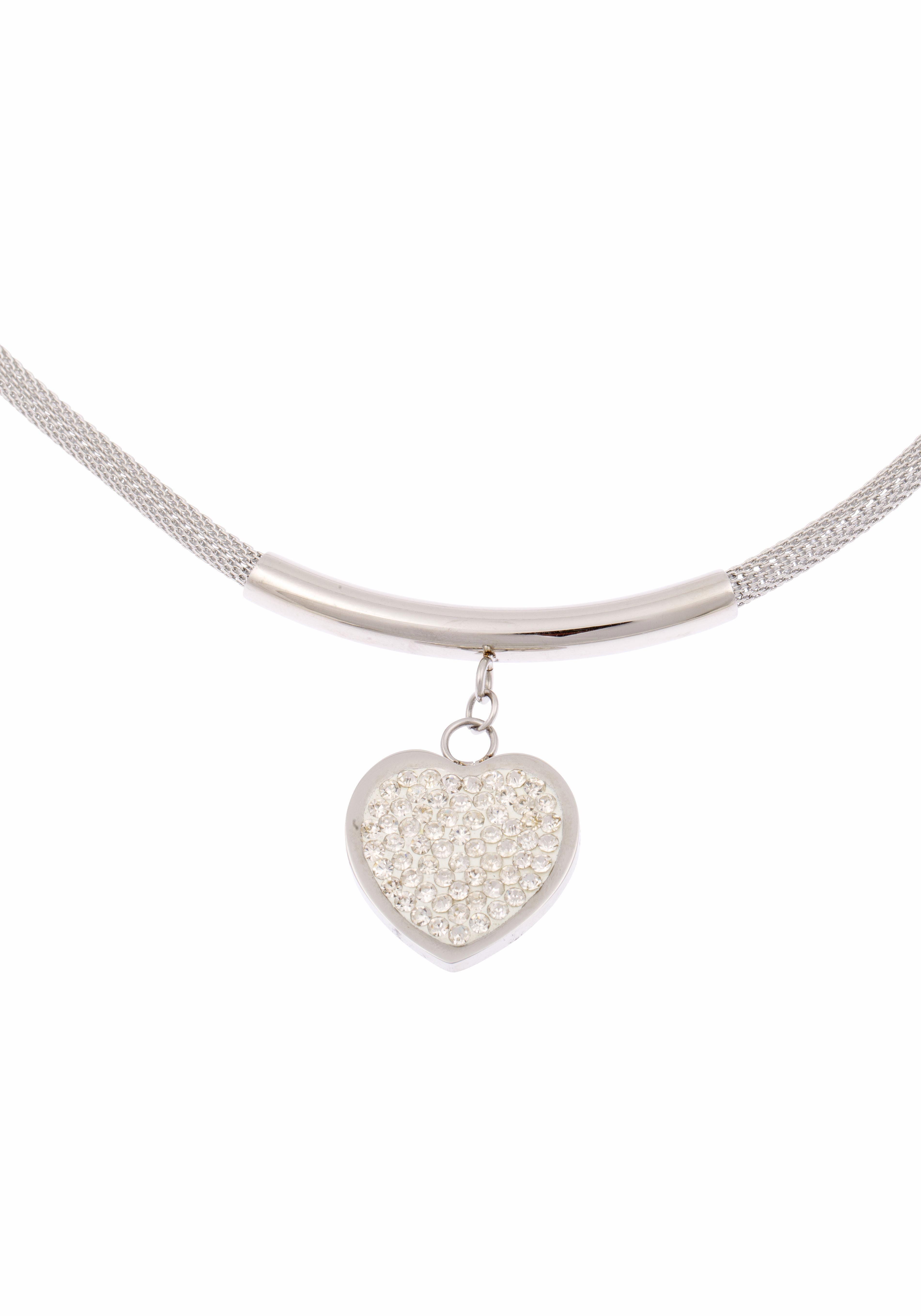 Firetti Herzkette »Herz« mit Kristallsteinen