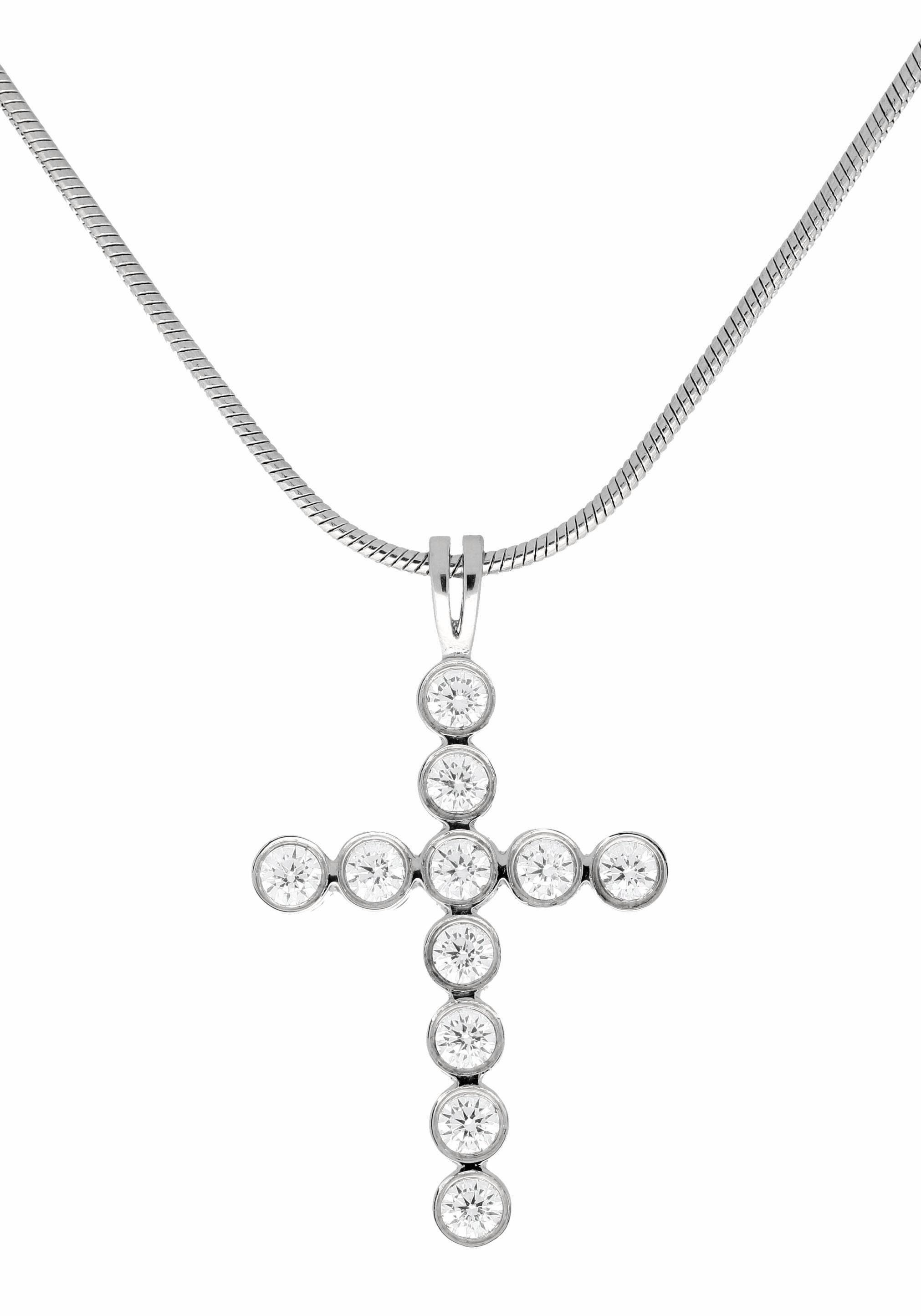 Firetti Kreuzkette »Kreuz«, mit Kristallsteinen
