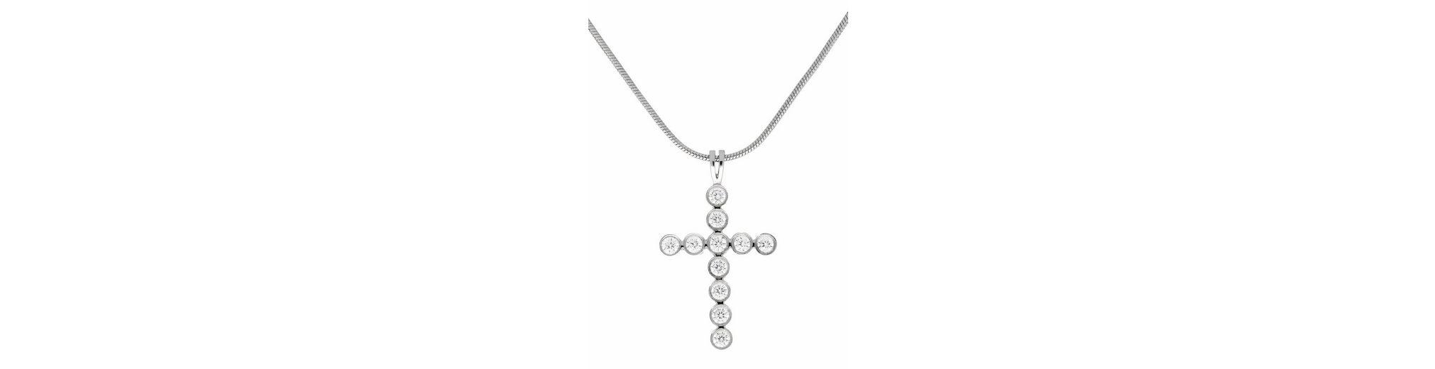 Firetti Kreuzkette »Kreuz« mit Kristallsteinen