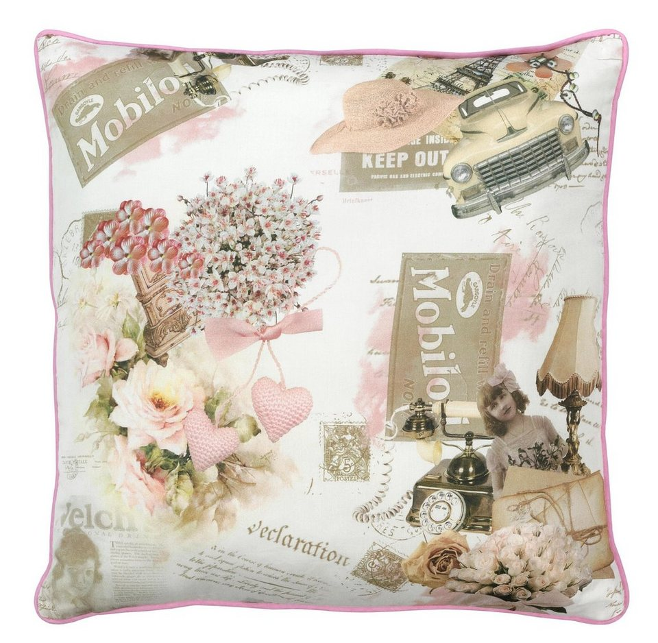 Dekokissen, Dohle & Menk, »Princesa«, im schicken Design in rosa-beige