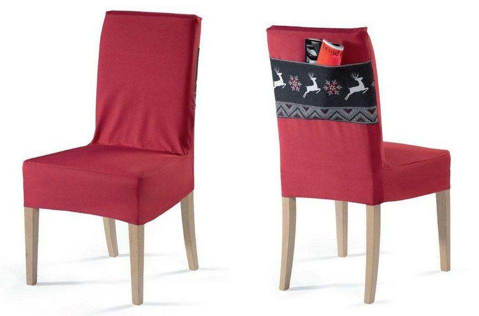 Stuhlhusse, Dohle & Menk, »Rennes«, mit praktischer Tasche in rot