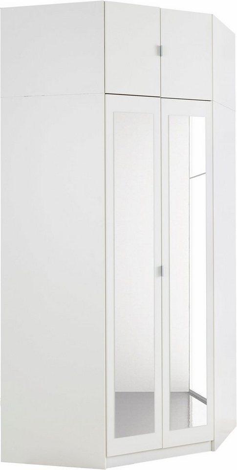 Eckkleiderschrank Weiss Mit Spiegel