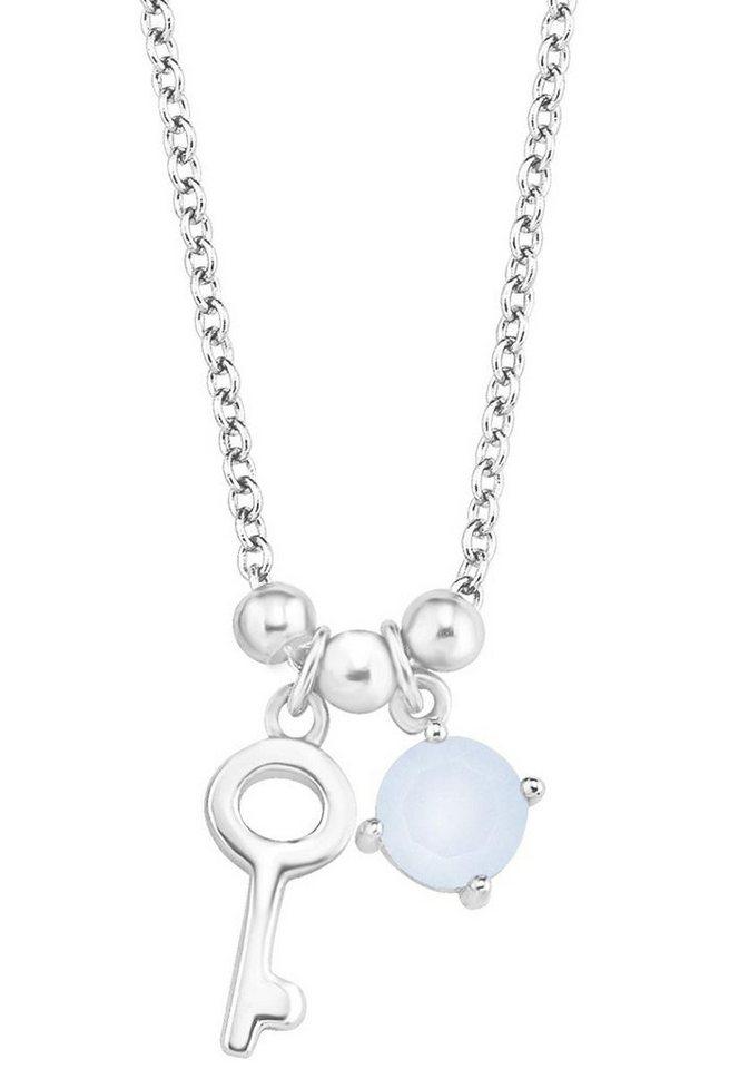 s.Oliver RED LABEL Junior Silberkette »Schlüssel, 2012459« mit Swarovski® Kristall in Silber 925-blau