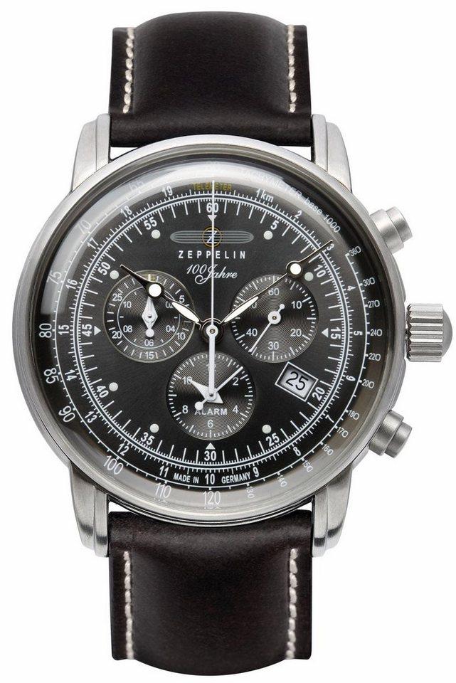 ZEPPELIN Chronograph »100 Jahre Zeppelin, 7680-2« Made in Germany in schwarz
