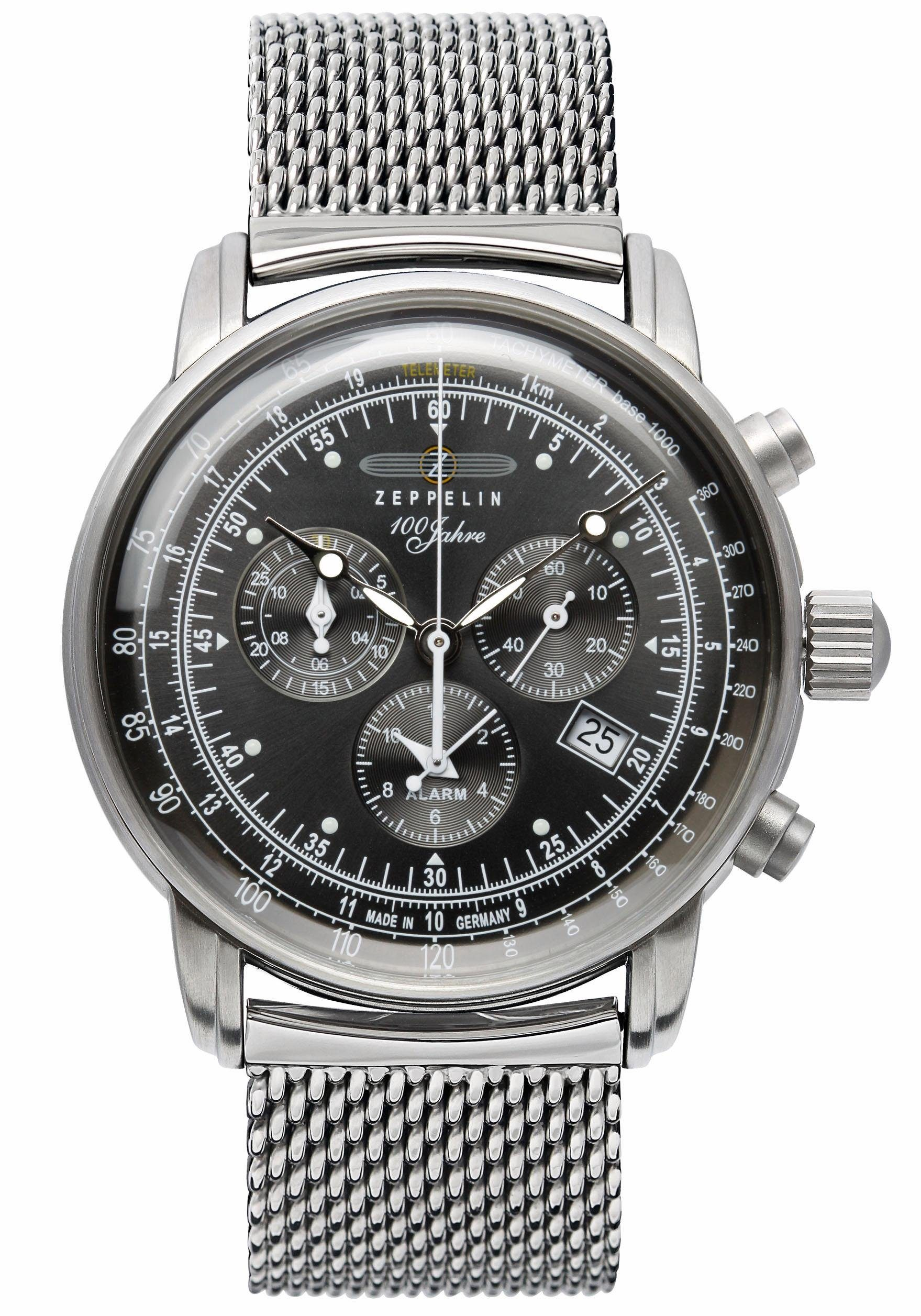 ZEPPELIN Chronograph »100 Jahre Zeppelin, 7680M-2«, Made in Germany