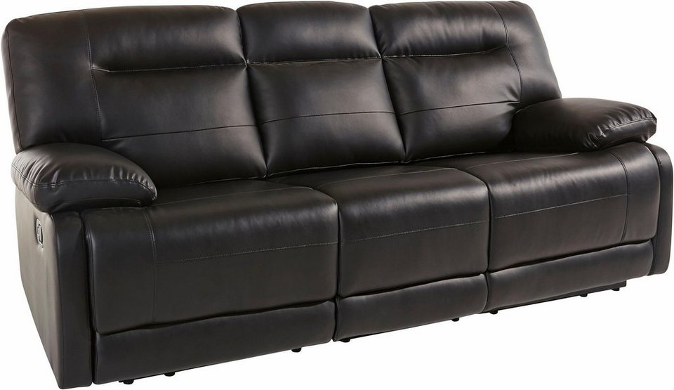 Atlantic Home Collection 3-Sitzer, inklusive Relaxfunktion in schwarz