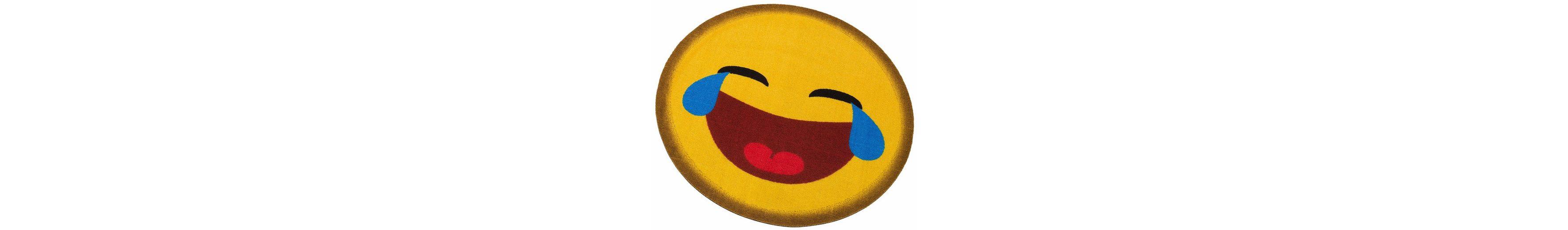 Teppich, rund, my home, »Emoji lachend«, getuftet  OTTO