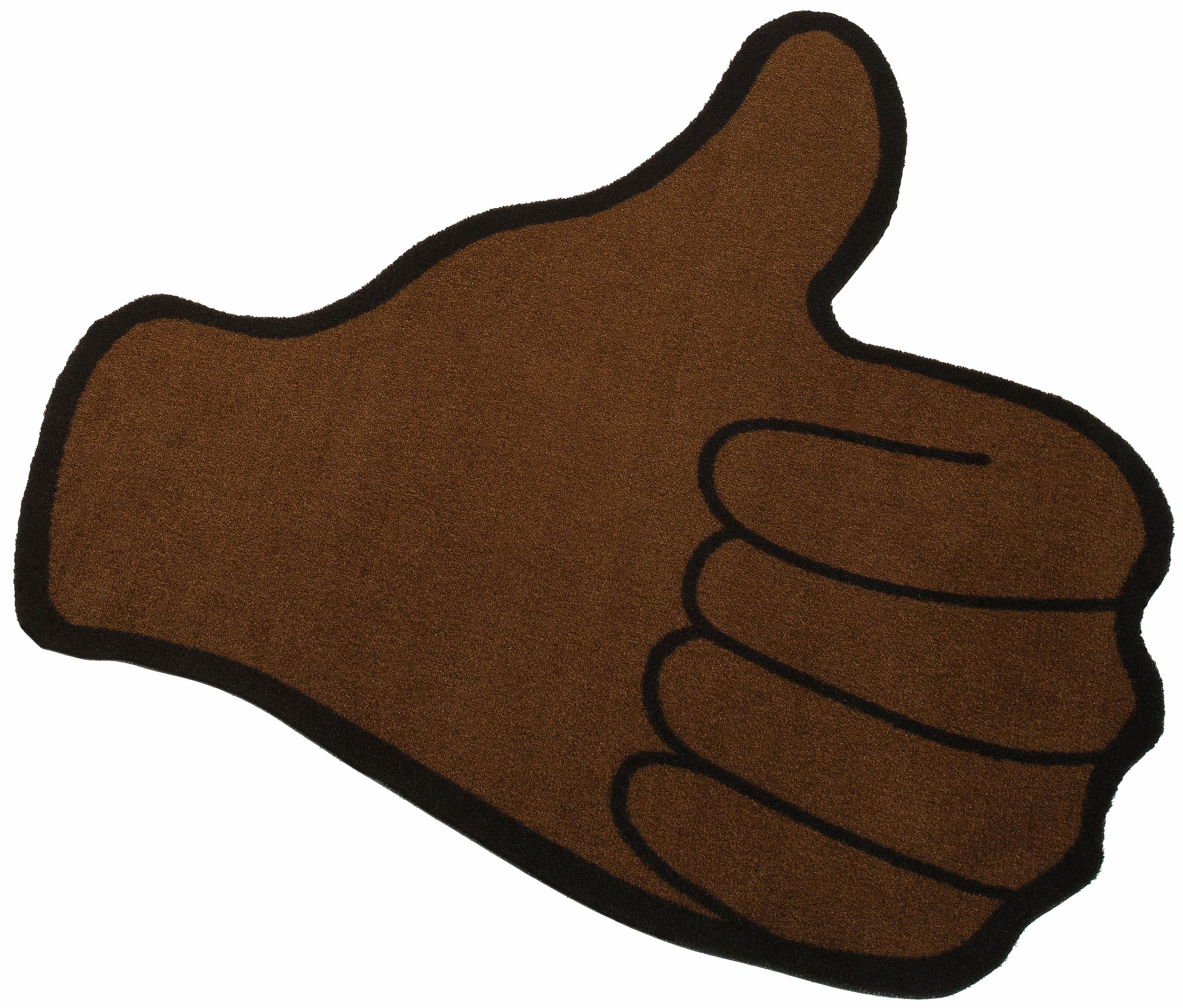 Teppich »Emoji Thumbsup«, my home, Motivform, Höhe 5 mm
