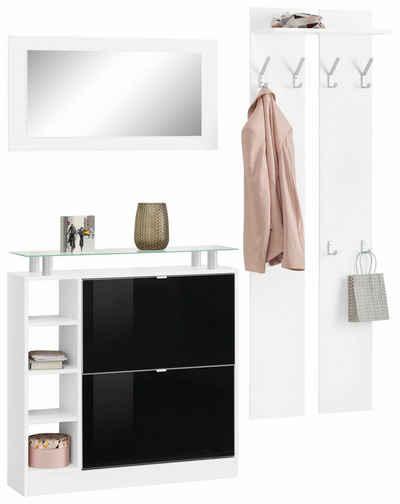 borchardt Möbel Garderoben-Set »Dolly«, (Set, 3-St), mit Glasablage