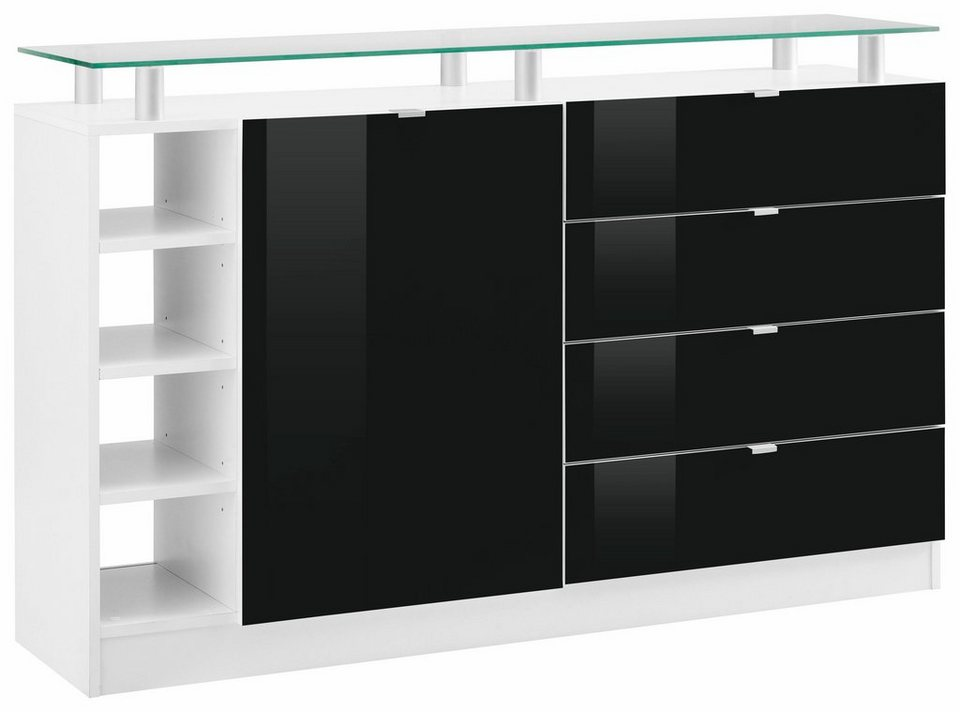 kommode wei schwarz hochglanz cheap highboard schwarz hochglanz vitrine kommode new highboard. Black Bedroom Furniture Sets. Home Design Ideas