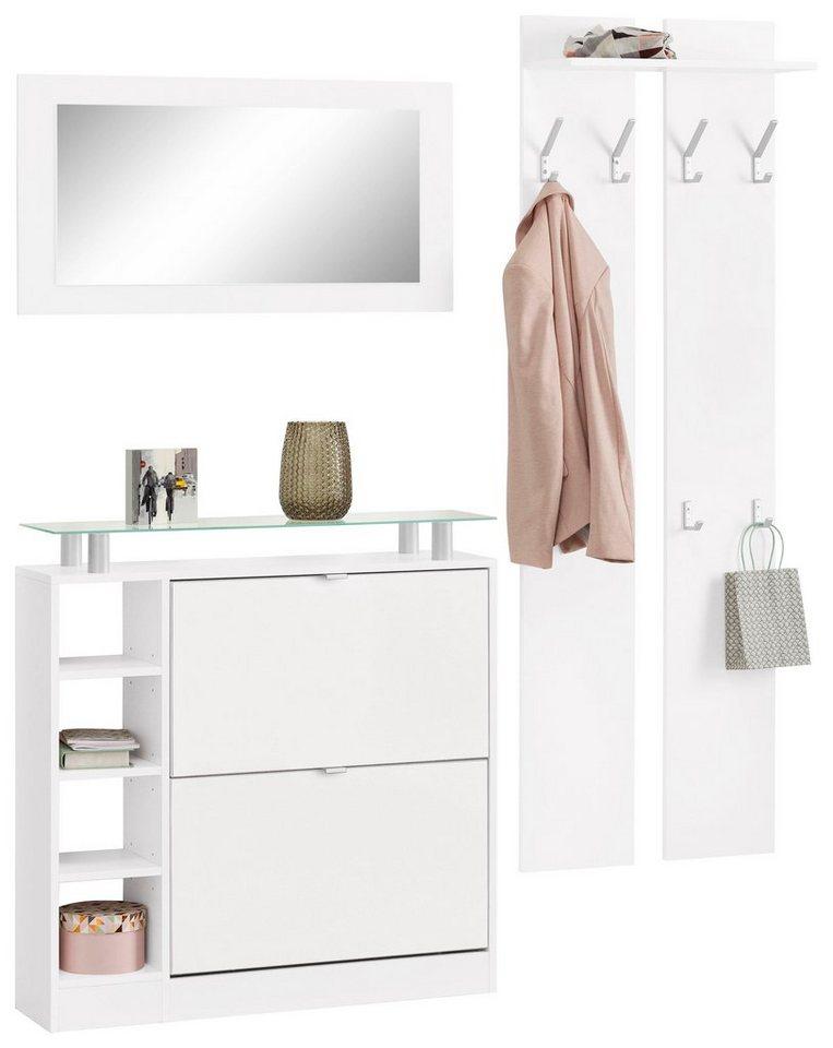 Garderoben-Set »Dolly« (3-tlg.) in weiß/weiß matt