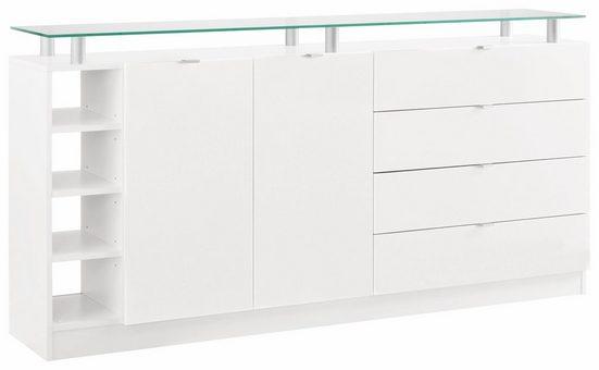 borchardt Möbel Kommode »Dolly«, Breite 173 cm, mit Glasablage