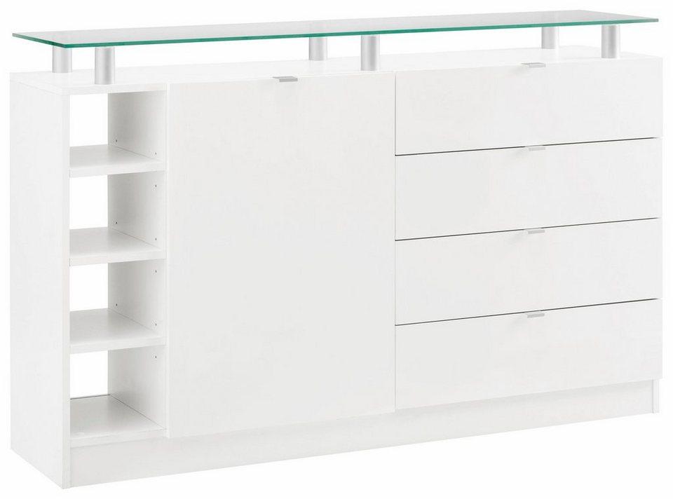 Kommode, »Dolly« Breite 135 cm in weiß/weiß matt