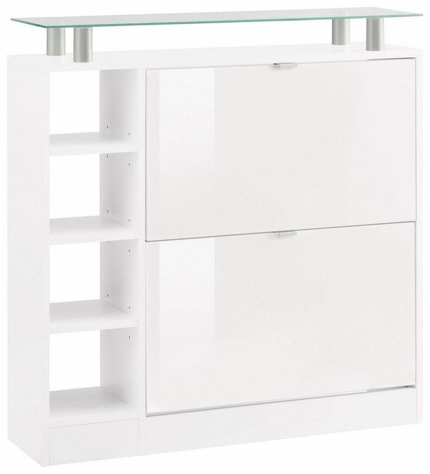 borchardt m bel schuhschrank dolly breite 89 cm mit glasablage online kaufen otto. Black Bedroom Furniture Sets. Home Design Ideas
