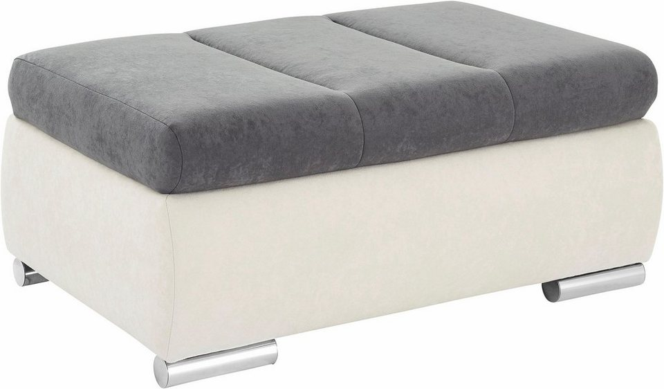 Collection AB Hocker in silber/anthrazit