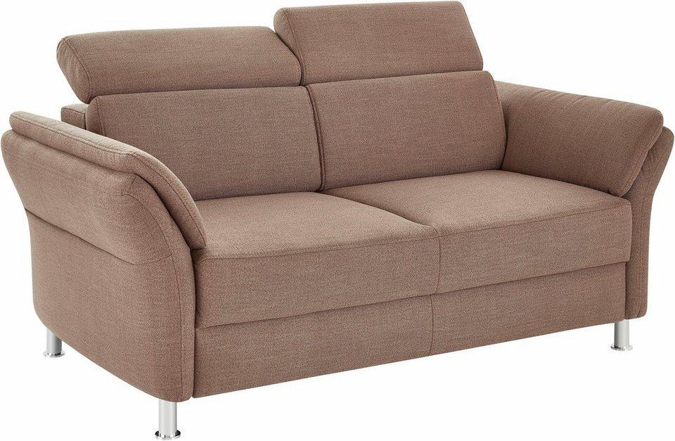 Sit & More 2-Sitzer, inklusive Kopfteilverstellung in latte