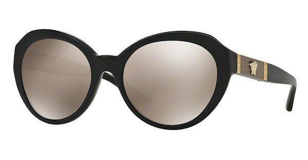 Versace Damen Sonnenbrille » VE4306Q« in GB1/5A - schwarz/gold