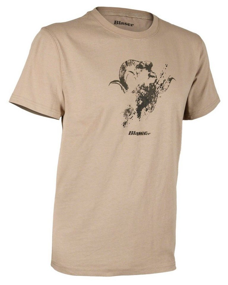 Blaser Active Outfits Logo T-Shirt in Sand