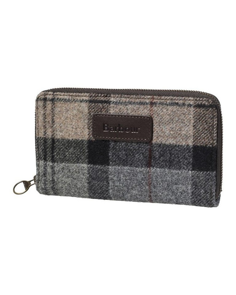 Barbour Geldbeutel Wool Tartan in Grau