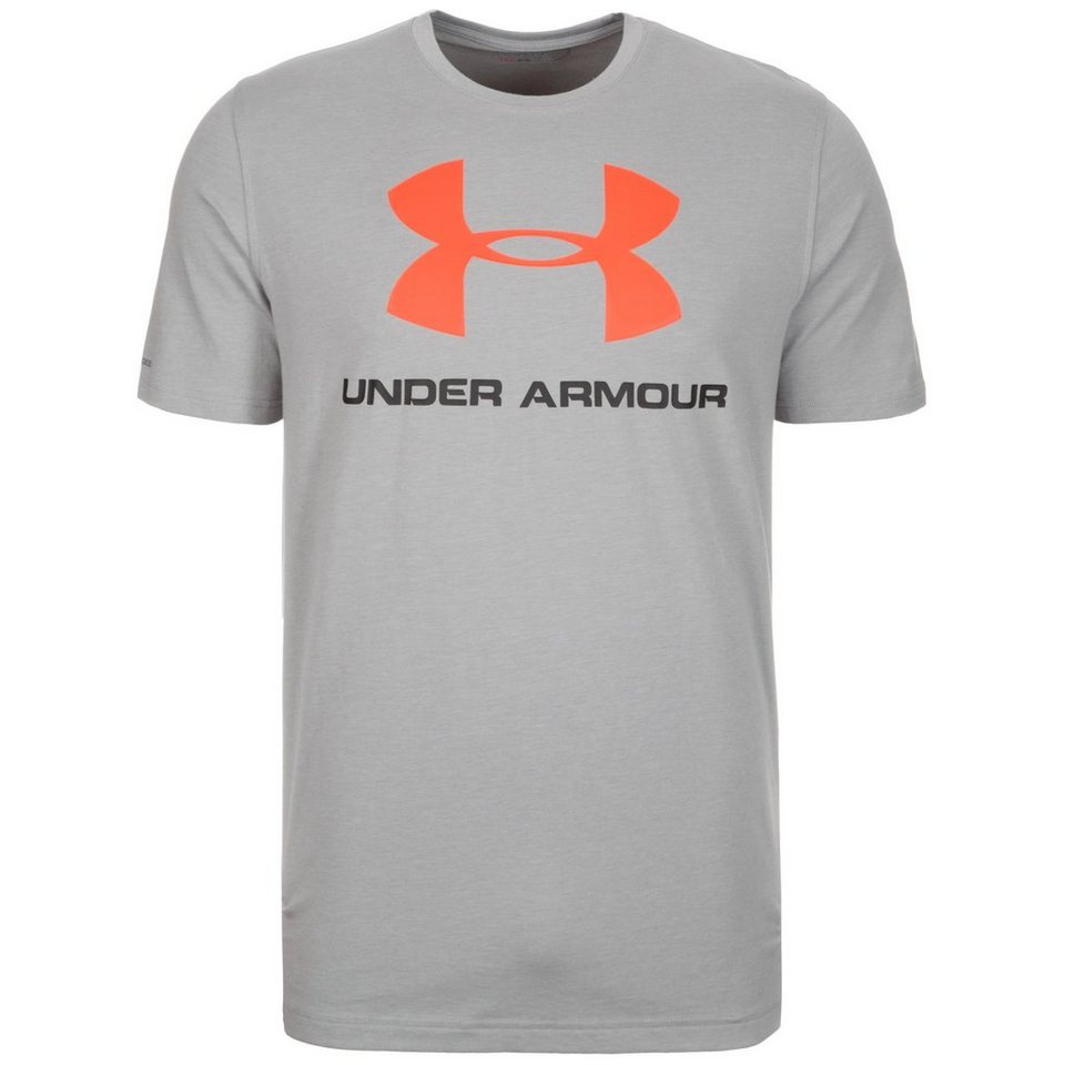Under Armour® HeatGear CC Sportstyle Logo Trainingsshirt Herren in grau / schwarz / rot