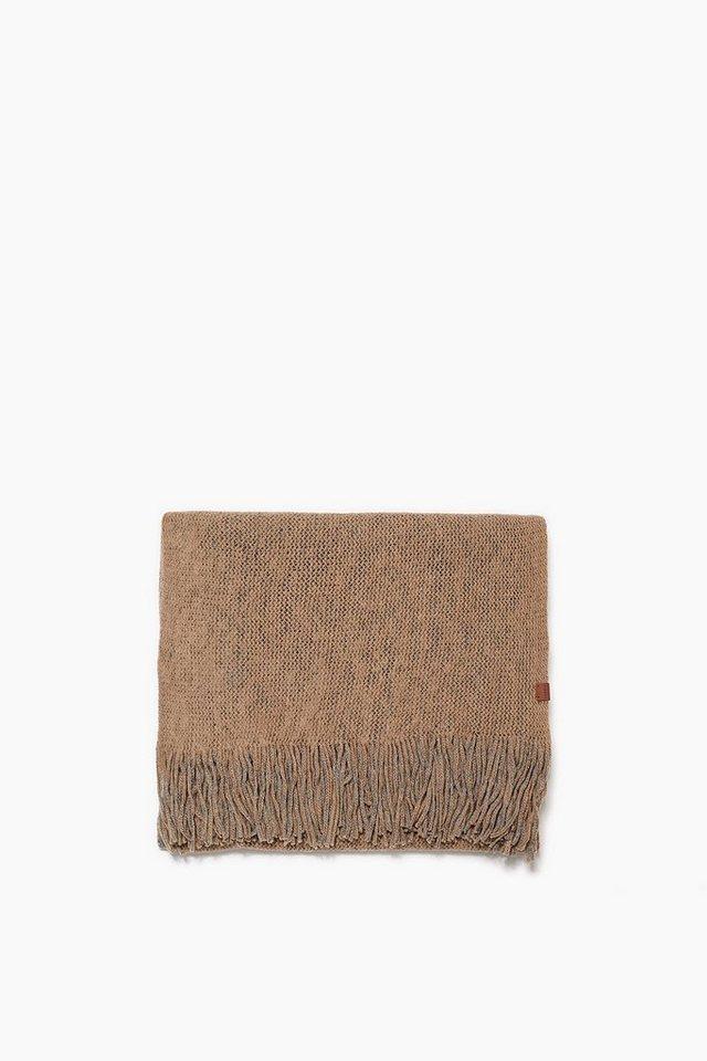 ESPRIT CASUAL 2lagiger Woll-Mix Schal aus lockerem Strick in CAMEL
