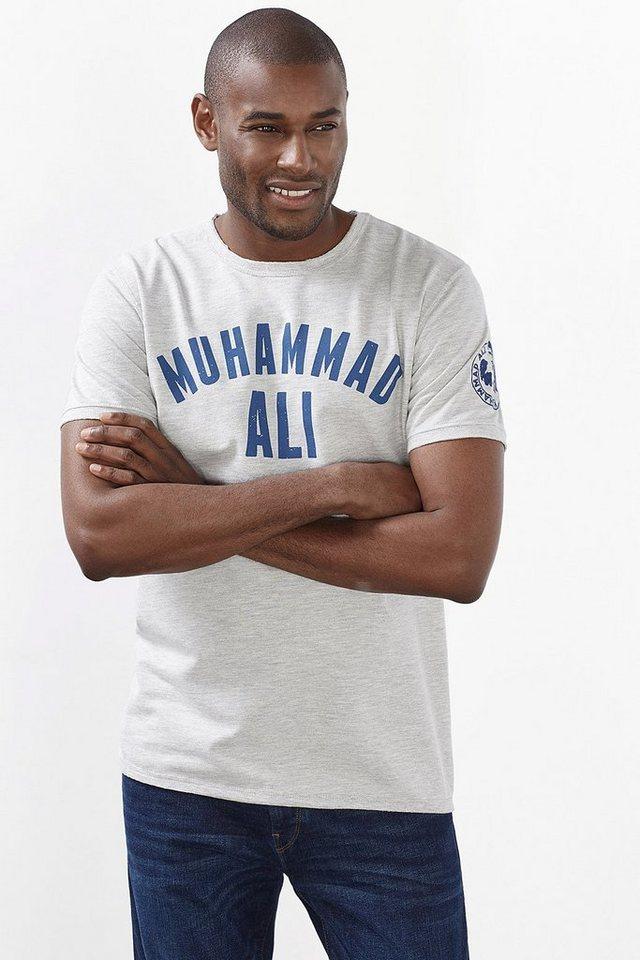 ESPRIT CASUAL Jersey T-Shirt mit Muhammad Ali Zitat in MEDIUM GREY