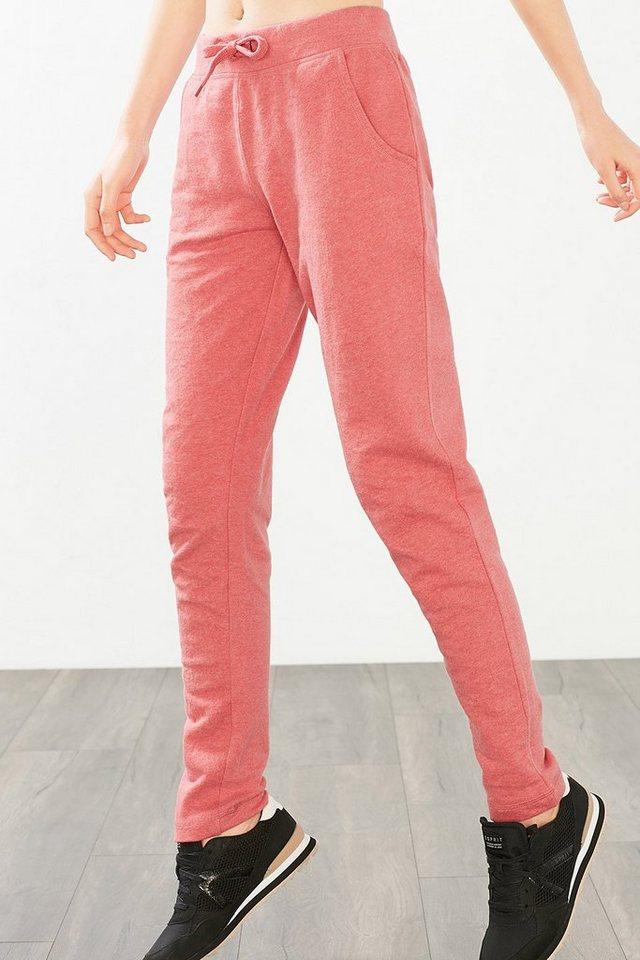 ESPRIT Sport Sweat-Pants aus Baumwoll-Mix in BLUSH