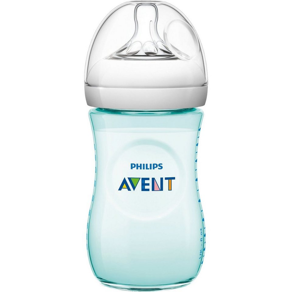 PHILIPS AVENT Weithals Flasche Naturnah SCF693/15, PP, 260 ml, Silikonsaug