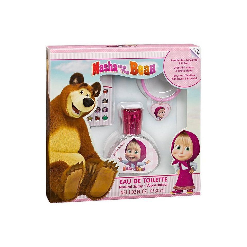 Geschenkset Mascha und der Bär mit Armband und Stickern