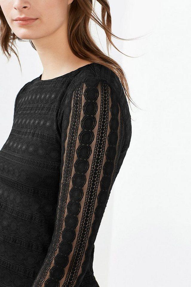 EDC Kleid aus Ornament-Spitze in BLACK