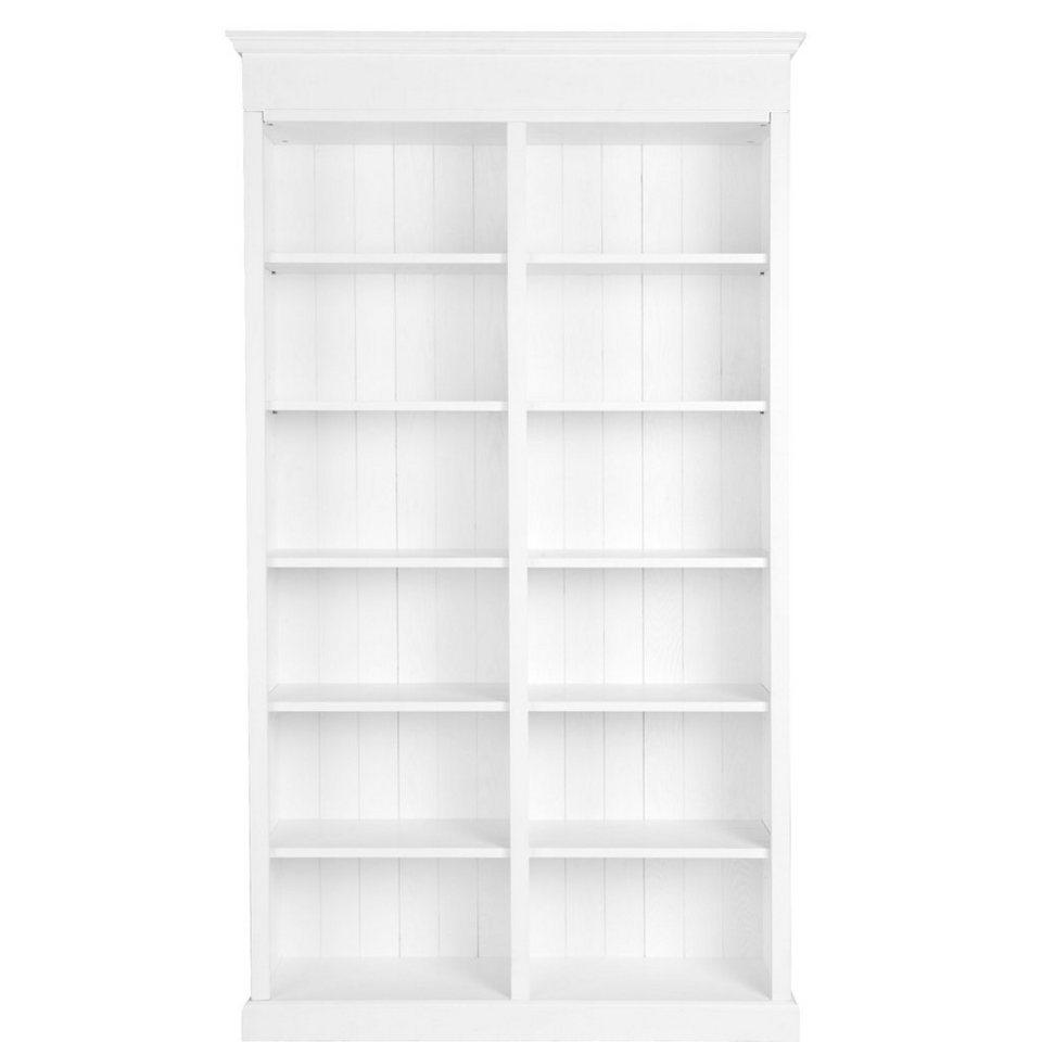 BUTLERS CAMPAGNE »Bücherregal mit 12 Fächern« in weiss