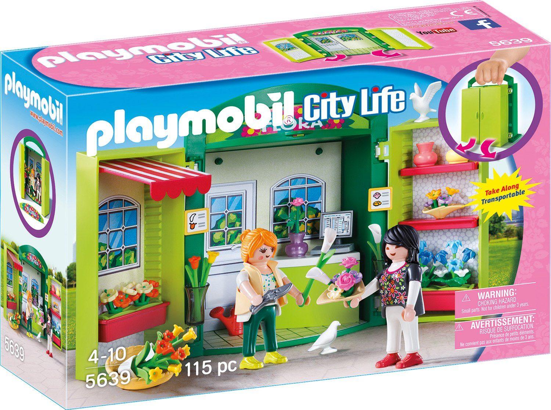 Playmobil® Aufklapp-Spiel-Box «Blumenladen» (5639), »City Life«